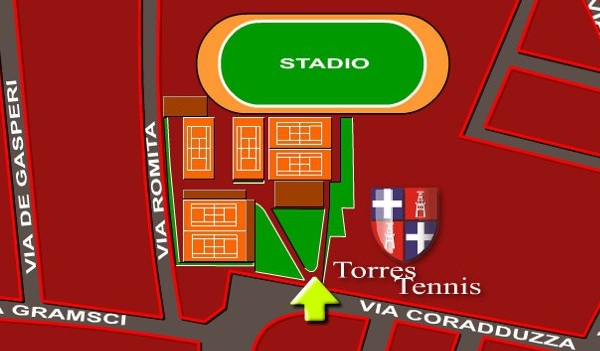 Mappa Campi Torres Tennis