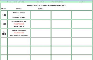 orari gioco ts vanni ticca 24 novembre 2012